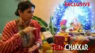 Pragati Mehra welcomes Ganpati at her home