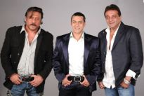 Jackie Shroff , Salman Khan and Sanjay Dutt