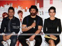Bhushan Kumar,Sunny Deol and Kangna Ranaut