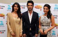 Vaani Kapoor, Sushant Singh Rajput and Parineeti Chopra on the sets of DID Super Moms