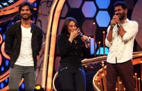 Shahid Kapoor, Sonakshi Sinha and Prabhudheva at the grand finale of Dance Ka Tashan