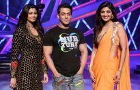 Daisy Shah, Salman Khan and Shilpa Shetty