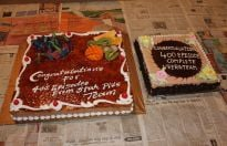 Veera completes 400 episodes: Cake cutting on the sets