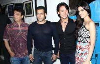 Sajid Nadiadwala,Salman Khan,Tiger Shroff and Kriti Sanon
