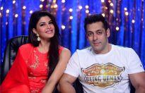 Jacqueline Fernandez and Salman Khan on the sets of Jhalak Dikhhla Jaa