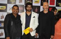 Music composer Loy Mendonsa and singer Shankar Mahadevan along with his son and singer Siddharth Mahadevan