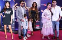 Celebrities at red carpet premier show of Disney's Aladdin