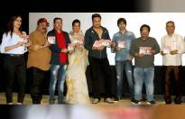 Krushna Abhishek and Mugdha Godse launches the music of comedy Hindi film Sharmaji Ki Lag Gai.