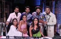 Judges Kareena Kapoor Khan, Bosc Martis, Raftaar along with Geeta Kapoor, Ravi Dubey, Nia Sharma and host Karan Wahi on DID