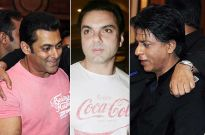 Salman Khan, Sohail Khan and Shah Rukh Khan