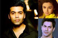 Karan Johar, Alia Bhatt and Varun Dhawan