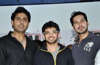 Abhishek Bachchan, Aditya Thackeray and Dino Morea