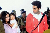Abhishek and Aishwarya Bachchan with Aaradhya