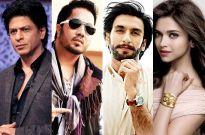 Shah Rukh Khan, Mika Singh, Ranveer Singh, Deepika Padukone