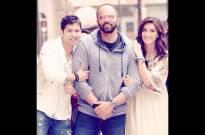 Varun Dhawan, Kriti Sanon and Rohit Shetty