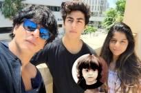 SRK with his children