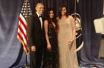 Priyanka Chopra with Barack Obama and Michelle Obama