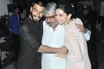 Ranveer Singh and Deepika Padukone with Sanjay Leela Bhansali