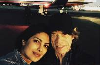 Priyanka Chopra and British singer Mick Jagger