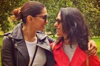 Deepika attends Wimbledon final with sister Anisha