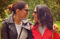 Deepika attends Wimbledon final with sister Anisha