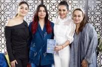 Shaheen Bhatt, Alia Bhatt and Soni Razdan chat away with Tara Sharma
