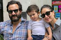 Taimur Ali Khan looks super cute as he poses for a family photo at Pataudi Palace