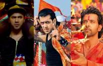 Match the actors with their Ganpati song.