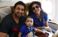 Shilpa Shetty and Raj Kundra with their son Viaan