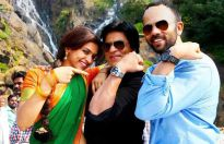 Deepika Padukone, Shah Rukh Khan and Rohit Shetty