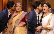Shah Rukh Khan, Ali Asgar and Upasna Singh