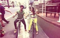 Love ride: Gauahar and Kushal