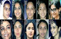 Who looks worst without make-up?