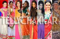 Which TV actress looks stunning in a ghagra?