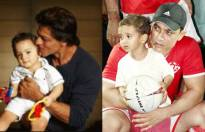 Which father-son pic looks cuter?