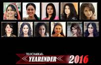 Who is the Top TV Face of the Year 2016 (Female)?