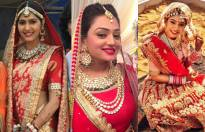 Which TV actress looks stunning in a bridal avatar?