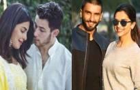 Deepika Padukone, Ranveer Singh, Priyanka Chopra, Nick Jonas