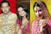Rahul Mahajan with wife Dimpy and Nikunj Mallik