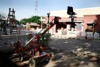 Cine employees strike work