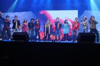 Bappi Lahiri performing with TOP 10 Indian Idol Contestants