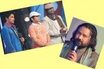 Host Aditya along with contestants Anik ,Abhijeet and Ismail Darbar