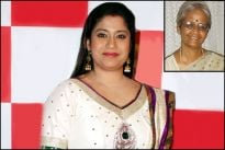 Renuka Shahane and her mother Shanta Gokhale