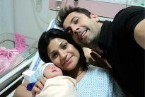 Kiran and Ritu Janjani with their baby