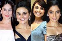 Kareena Kapoor, Preity Zinta, Rani Mukerji and Sridevi