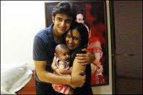 Romit Raj and Tina with their daughter Rhea