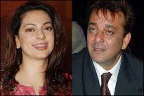 Juhi Chawla and Sanjay Dutt