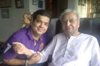 producer Amit Mehra with Pran Saab