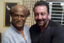 Rajnikanth and Sanjay Dutt
