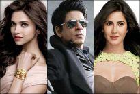 Deepika Padukone, Shah Rukh Khan and Katrina Kaif